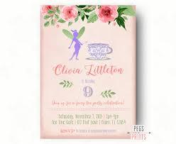 fairy tea party invitation fairy garden invite fairy