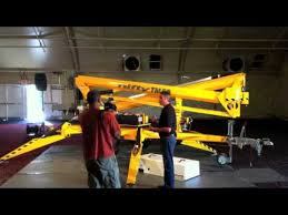 product review niftylift tm50 trailer mounted boom lift youtube