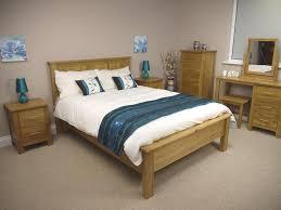 solid oakland chunky oak 5 u00270 bedframe king bed frame amazon co