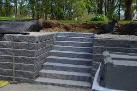 Retaining Wall Stairs Design Retaining Wall Vermont Landscaping Design Installation