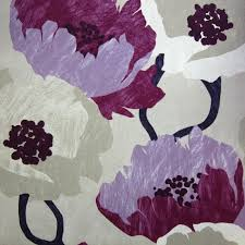 Purple Floral Curtains Modern Purple Floral Fabric By The Yard Lavender Curtain