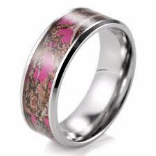 camouflage wedding bands 8mm pink muddy girl camo ring beveled titanium camouflage wedding