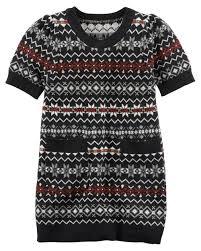fair isle sweater dress kid fair isle sparkle sweater dress carters com