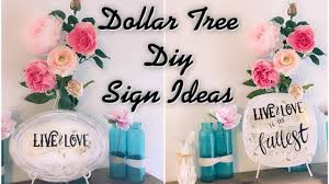 Diy Home Decor Signs by Dollar Tree Diy Signs Easy Home Decor Ideas Youtube
