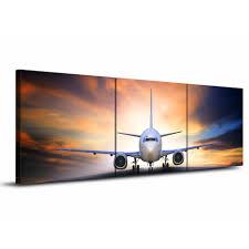 aliexpress com buy 3 piece canvas art aircraft take off plane