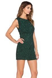 mlv kari sequinned mini dress in green lyst