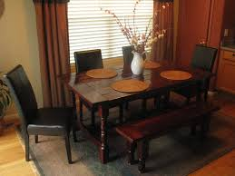 Large Kitchen Tables With Benches Dining Table With Bench Against Wall Studiozine Upholstered Loversiq