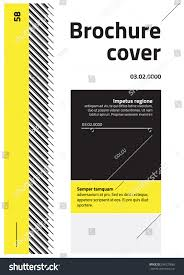 yellow colour combination modern clean style brochure design yellow stock vector 288120065