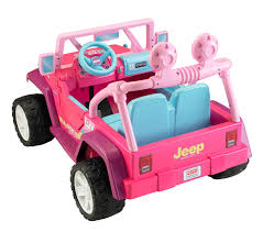cute jeep drawing power wheels barbie jammin u0027 jeep wrangler 12 volt battery powered