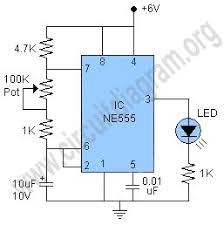simple 555 led flasher circuit diagram de todo pinterest