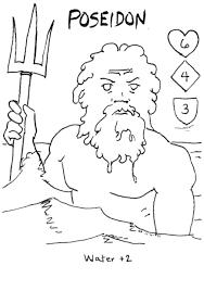 greek god poseidon drawings