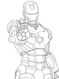 Plain Design Iron Man Coloring Page Marvel Pages Free Printable Coloring Page Iron