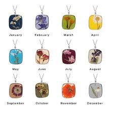 flower of the month birth month flower necklaces frugal novice