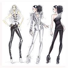 fashion illustration brooke hagel armani alicia keys costume