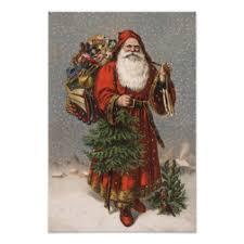 vintage santa posters zazzle