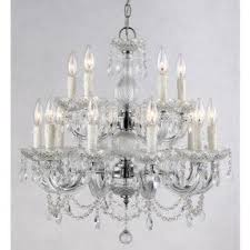 Crystal Chandelier Canada Faux Crystal Chandeliers Foter