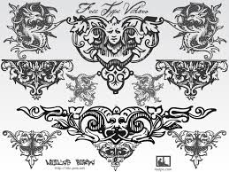 free typographic ornaments free vector 4vector
