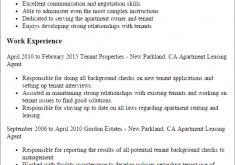 Apartment Leasing Agent Resume Sensational Design Producer Resume 15 Executive Template Resume