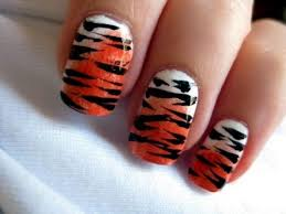 tiger design nails tempting tiger nail designs u2013 nail laque and