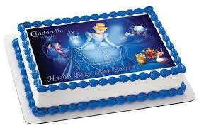 cinderella cake cinderella 3 edible birthday cake and cupcake topper edible prints