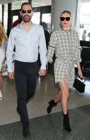kate bosworth wears a perfect plaid shirtdress at the airport