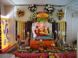 Home Ganpati Decoration Ganapati Decoration In Living Room Home Combo