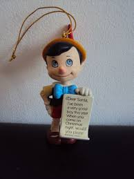 disney grolier pinocchio tree ornament decoration figure