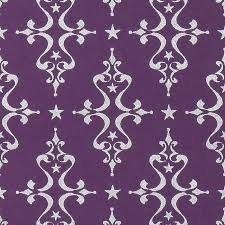 silver etoile on purple gift wrap designer wrapping paper