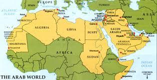 arab map arab map major tourist attractions maps