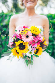 wedding bouquets 22 cheery sunflower wedding bouquets mon cheri bridals