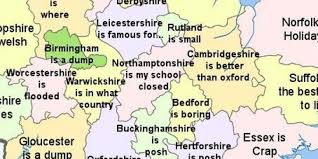 Oxford England Map by The Greatest Map Of English Counties You Will Ever See Huffpost Uk