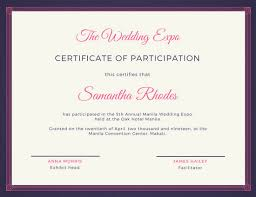 pink and blue fancy certificate of participation templates by canva