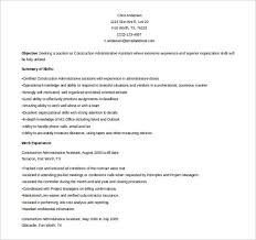 Great Sample Resume by 11 Word Administrative Assistant Resume Templates Free Download