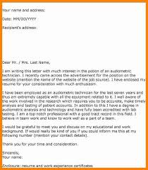 letter for expression of interest