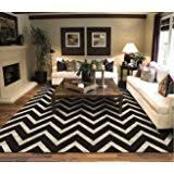 Black Chevron Area Rug Contemporary Black Chevron Striped Rug 7 Foot 10 Inch