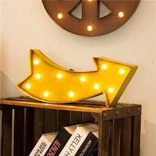 arrow of light decorations glitzhome marquee led lighted arrow sign wall décor reviews wayfair