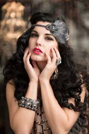 ladies hair pieces for gray hair the great gatsby headband pewter gray beaded black feather