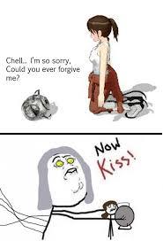Just Kiss Meme - portal 2 now kiss now kiss know your meme