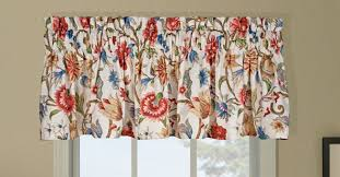 Wide Rod Valances Cornwall Insulated Tailored Valance Multicolor Jacobean Floral Print