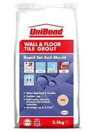 unibond rapid set flexible beige wall u0026 floor tile grout w 2 5kg