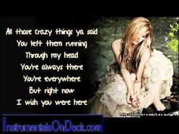 avril lavigne wish you were here instrumental download youtube
