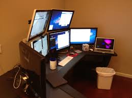 Apple Office Alex Brattons Ultimate Home Office Lab Setup Four Of The Screens