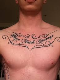 faith courage black ink chest tattooshunt com