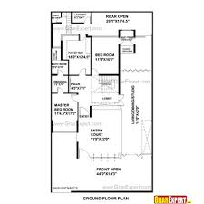 house plan for 42 feet by 75 feet plot plot size 350 square yards
