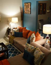 teal and orange living room living room