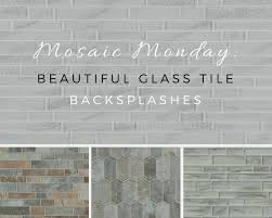 Mosaic Monday Beautiful Glass Tile Backsplashes - Gray glass tile backsplash