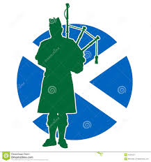 scottish piper flag stock vector image 42342257