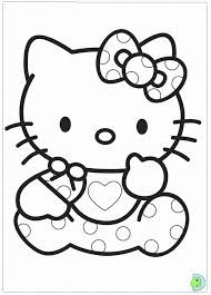 baby kitty coloring printable coloring pages