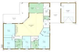 plan maison 100m2 3 chambres plan de maison plain pied gratuit plan maison plein pied 3