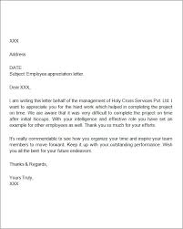 appreciation letter to employee employee appreciation letter